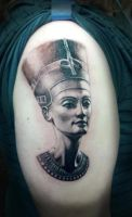 Nefertiti portrait by TheArtOfRain
