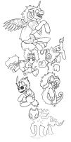My Little Pony: Ocarina of Time Bosses WIP by Leafyful
