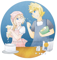 Baking Together by Maisuki-chan