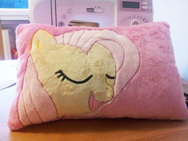 Minky Fluttershy Cushion by SakuSay