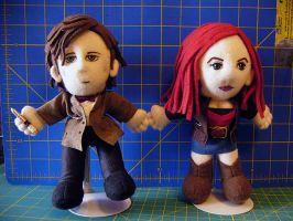 11th Doctor and Amy Pond by alice-day