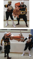 Drachma v.s. Galcian - Skies of Arcadia cosplay by Skull-the-Kid