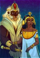 Blessed king and queen by Katerinich