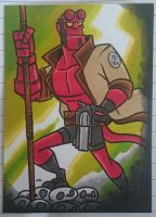 HELLBOY sketch card commission by tyrannus
