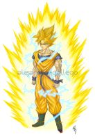 Goku Super saiyan DBZ by CloudXtrife