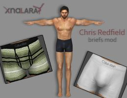 Chris Redfield - Briefs mod by deexie