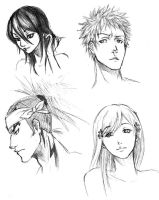 Bleach Sketches by pure-forest