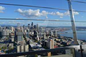Downtown Seattle from the Space Needle by MindOverMiller