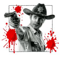 Rick Grimes - Walking Dead by NicksPencil