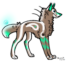 Glow Wolf Adopt -OPEN- by TranquilityBlue