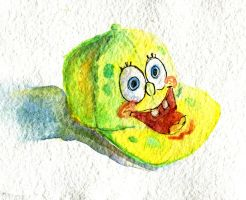 Watercolor Spongebob Hat by atnason