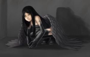 Crouching Angel by Sessie