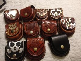 Current Batch Leather Time Piece Cases by aGrimmDesign