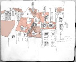 Riga in A5 sketchbook by huntlus