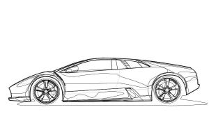 Murcielago Toon -outlines- by PORSCHER