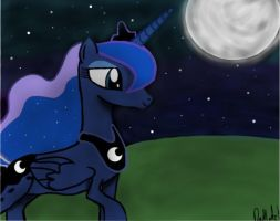 Luna In the Night by halobanana99