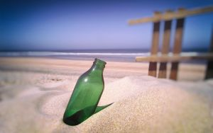 Lonely Bottle by Binary-Map