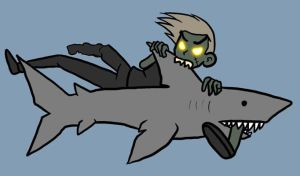 Zombie Vs. Shark by Kaxen6