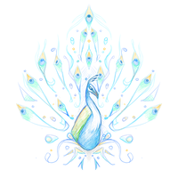 Crest Sketch 33: Peacock by andarix