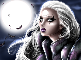 Diana: Moon in League of legends by Felanka