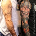 Samurai Sleeve Tattoo Ink Injection Mississippi by jacksonmstattoo
