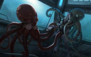 Eclipse Phase Rimward - Octopus Thugs by Hideyoshi