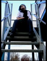 Drue and some Stairs by Natamalie