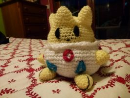 Togepi by crocheter