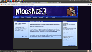 Moosader new design - Homepage by Moosader