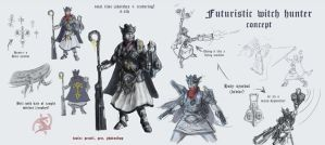 Futuristic Witch-Hunter by headconc
