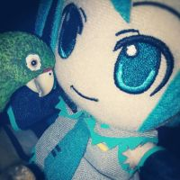 Hatsune Miku and Perry at Night!! by Catnap2020
