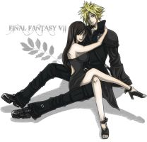 FF7:Cloud.Tifa. by KaBa0501