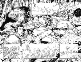 Manifest Destiny Issue 6 Pages 2 and 3 inks by Shinolahead