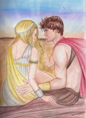 Phaedra and Ares on the beach