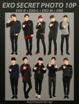 EXO SECRET PHOTO png pack 10P by hyukhee05