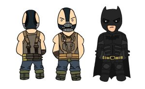 The Dark Knight Rises: Batman and Bane by Mattmadeacomic