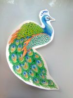 peacock drawing by Kittencaboodles