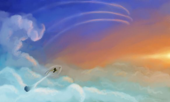 Above the clouds by Verael