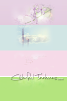 4 colorful textures 2 by Carlytay