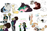 OP kitties and YoBro and Den and suff by Nire-chan