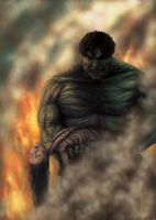 a burning hulk by artmunki