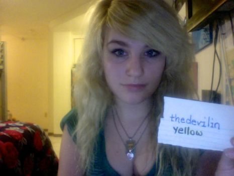 Fansign for Thedevilinyellow by Blink-719