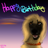 Happy Birthday! *running sensless in a circle* by HellmotherEva