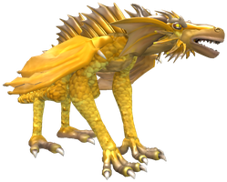 Spore - Golden Emporer Dragon by Scaleeth