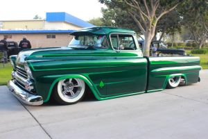 Green 59 Chevy Pick Up by DrivenByChaos