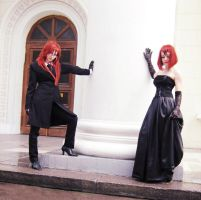 Grell and Madame Red by 2-Dfree