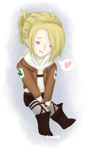 i drew a tiny ooc annie by FrostedBismuth