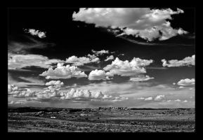 On the road to the Monument Valley I BW by Emilio-Casini