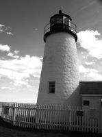 Black and white Pemaquid by davincipoppalag