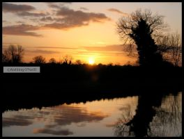 Irish Canal Sunset II by fluffyvolkswagen
